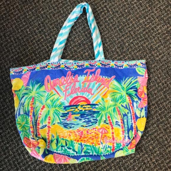 Lilly Pulitzer Handbags - Lilly Pulitzer Beach Tote Amelia Island